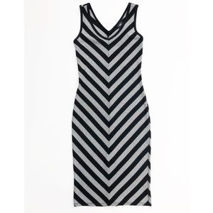 Mossimo Chevron Striped Sleeveless Knit Tank Dress